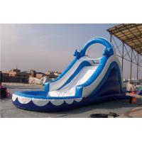 Wholesale Huge Dolphin Inflatable Water Slide Combo , Backyard Water Slides For Adults from china suppliers