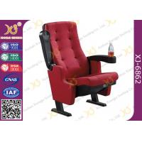 China PP Outerback Color 3D Movie Cinema Theater Chairs With Tip Up Cupholder on sale