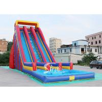 China 10m high giant inflatable water slide for adults made of 0.55mm pvc tarpaulin material on sale