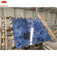 Wholesale Natural Blue Terrazzo Ocean Marble Stone Slab Custom Terrazzo Countertops from china suppliers