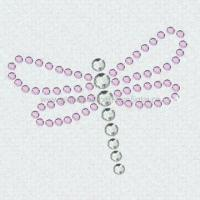 Wholesale Car Sticker in Dragonfly Shape, Decorated with Rhinestones, Various Colors are Available from china suppliers
