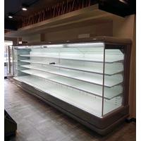 Open Fronted Wallsite Dairy Display Fridge Showcase With Ventilated Cooling System