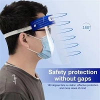 Wholesale Anti Virus Transparent PET Face Covering Anti-fog Plastic Face Shield from china suppliers
