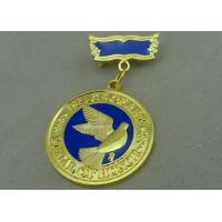 Wholesale 3D Brass Die Stamped Custom Awards Medals Hard Enamel 100mm * 70mm from china suppliers