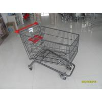 Wholesale Large Capacity 4 Wheel Supermarket Shopping Trolley With Red Handle from china suppliers