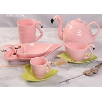Wholesale Promotional LFGB Nordic Style Flamingo Tea Set from china suppliers