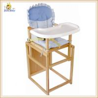 Adjustable Wooden Baby Feeding Chair Portable Space