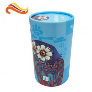 China Eco Friendly Cardboard Gift Boxes Custom Beautiful Tube Packaging Matt Lamination Printing on sale