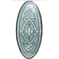 oval panel glass, bevel cluster for decoration of the window and door