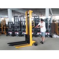 Wholesale Mast Steel Manual Pallet Stacker Adjustable Forks With Integral Pump from china suppliers