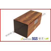 China Brown Food Grade Cigar Gift Paper Box  with Tissue Paper Printed on sale