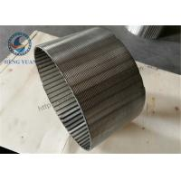 Wholesale Wire Wrap Wound Johnson Stainless Steel Well Screens For Water Well from china suppliers
