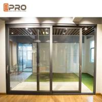 Wholesale Durable Aluminium Sliding Glass Doors Anodized Surface Finishing Sliver Color from china suppliers