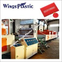 China E - PVC Red Mat Making Machine / Fluffy Plastic Mat Rolling Production Line on sale