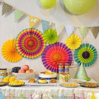 Buy cheap Multicolor Paper Flower Fan Suit Inside Or Outside Door Decorations from wholesalers