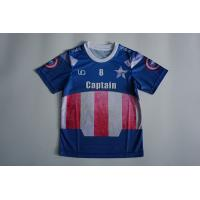 Wholesale Sublimation Mesh Dry Fit O Neck Kids Soccer Jersey With Blue Color from china suppliers