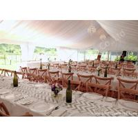 Wholesale White Lining Adored Aluminum Framed Luxury Wedding Tents , Beach Wedding Marquee from china suppliers