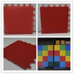 China Multipurpose Kindergarten Flooring Red Plastic , Floor Rubber Mats on sale