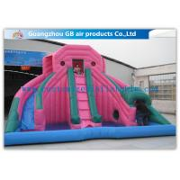 Wholesale Custom Pink Double Inflatable Water Slides For Toddlers Plays With Pool from china suppliers