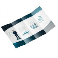 Wholesale Foldable Business Card Printing , A5 Leaflet Printing Art Paper Full Color from china suppliers