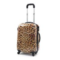 Leopard Print Luggage Travel Suitcase Rolling Duffle Bag Customised