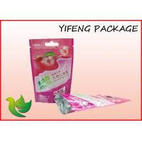 Stand Up Zipper Plastic Resealable Bag With Euro Hole For Candy Packaging Manufactures