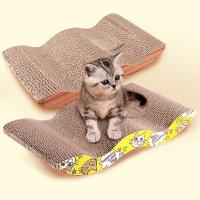 Wholesale Catnip Inside Cardboard Scratching Recycled PadNon - Toxic Corn Starch Glue from china suppliers