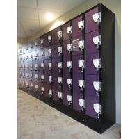 Wholesale Purple / Orange School Lockers , Anti UV Aging Coin Collect Lockers 5 Tier from china suppliers