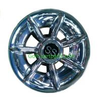 Wholesale Silver Ss 12 Inch Wheel Covers , Black Golf Trolley Wheel Covers Chrome Finishing from china suppliers