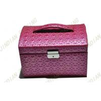 Wholesale Custom Pink Pu Leather Jewelry Boxes, Fashion Jewelry Cardboard Gift Boxes from china suppliers