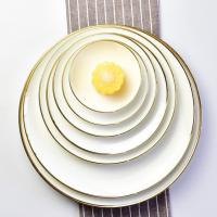 Wholesale Custom Luxury Royal Bone China Dinner Set Gold Rim For Hotel Restaurant from china suppliers