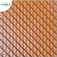 Wholesale Waterproof Leather Upholstery Fabric , Black Quilted Vinyl Fabric Artificial Synthetic from china suppliers