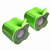 Wholesale Mini USB Speakers, Various Colors are Available, Used for PC, MP4/MP3 and PDA from china suppliers