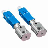 China Gray Bare Adapter Fiber Optic SC Type Fiber Optic Couplers For Test Center on sale