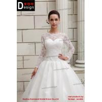 Ch1837 newest beautiful sweetheart ball gown long sleeve for Brand name wedding dresses