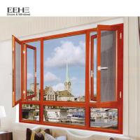 European Style Aluminum Casement Windows With Doule Laminated Glass Type