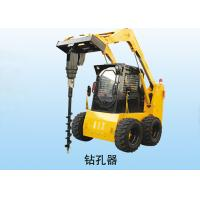 China Multi - Function Auger Implement Loader Skid Steer With Auger Rated Load 1050 Kg on sale