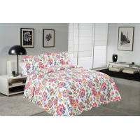 Wholesale Cockscomb Flower Double Bed Quilt Covers , Microfiber Fabric Quilt Cover Sets from china suppliers