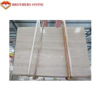 Wholesale Athens White Wood Vein Marble , Big Marble Slab Stone Eco - Friendly from china suppliers