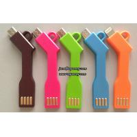Wholesale KeyChain Micro USB Cable Charger Data Sync Key chain Charging Micro USB Cable Cord Line from china suppliers