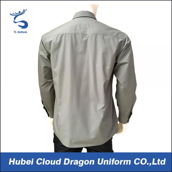 Men 39 s autumn custom security shirts long sleeve work for 100 cotton work shirts
