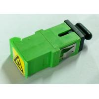 Wholesale Green SC/APC Simplex Adapter with Shutter,Short flange,metal clip from china suppliers