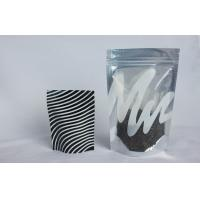 Quality Clear Window Foil Ziplock Bags Stand up , Plastic Bag with Zipper for Tea for sale