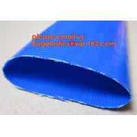 China Customized inch 3/4-16 discharge water pvc layflat hose tubing pipe flexible lay flat irrigation agricultural water ho on sale