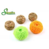 Wholesale Wire Mesh Brass Scouring Pads Cleaning Ball For Kitchen Houseware Strong Cleaning from china suppliers
