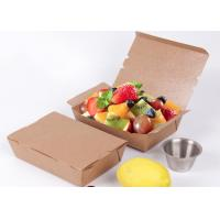 China Disposable 48oz container kraft paper salad bowl or take away paper box on sale