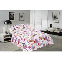Buy cheap Modern Style Printed Quilt Set With Classic Ticking Printing For Bedrooms product