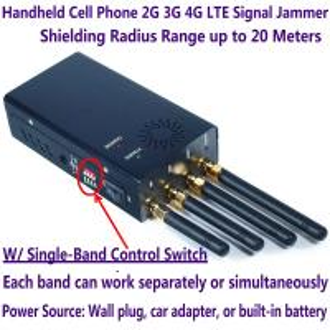 Portable mobile phone signal Block - Portable High Power 4G LTE Signal Mobile Phone Jammer - 4G Cell Blocker