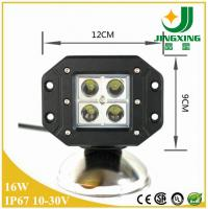 China New 3inch flush mount cree led work light,16W work light led, car led work lamp on sale
