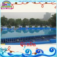 Summer Swimming Rectangular Pvc Outdoor Above Ground Metal Frame Pools Of Item 105773207